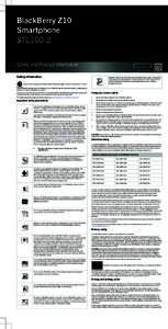 BlackBerry Z10 Smartphone STL100-2 PRINTSPEC-128 SWD- | RFH121LW