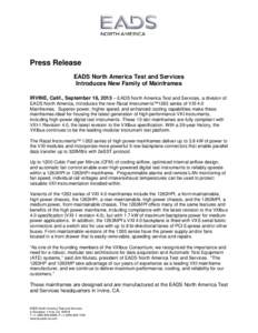 Microsoft Word - EADS-NA HP and MP VXI4.0 Mainframe Press Release 16 Sept 2013