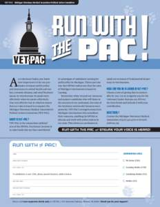 VET-PAC Michigan Veterinary Medical Association Political Action Committee  Run with fl PAC A