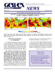 Global Energy and Water Cycle Experiment  NEWS Vol. 10, No. 1