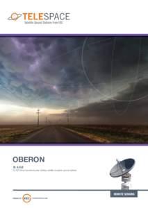 OBERON XL & XLE XL EOS Direct broadcast polar-orbiting satellite reception ground stations  REMOTE SENSING