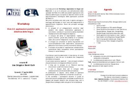 Workshop Web 2.0: applicazioni pratiche nella didattica delle lingue a cura di Lisa Griggio e Sarah Guth