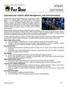 Command and Control, Battle Management, and Communications