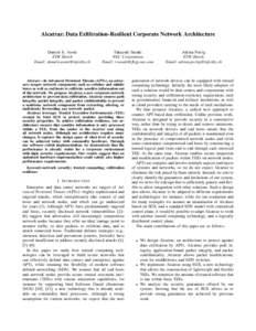 Alcatraz: Data Exfiltration-Resilient Corporate Network Architecture Daniele E. Asoni ETH Z¨urich Email:   Takayuki Sasaki