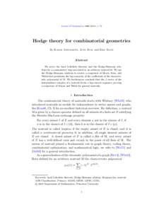 Hodge theory for combinatorial geometries
