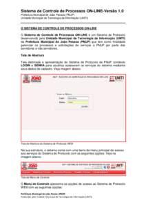 MANUAL DO SISTEMA DE PROTOCOLO WEB 1.0