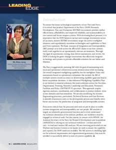Introduction  Ms. Mary Lacey Deputy Assistant Secretary of the Navy Research, Development, Test & Evaluation