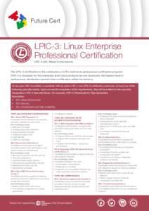 LPIC-3: Linux Enterprise Professional Certification LPIC-3 300: Mixed Environments