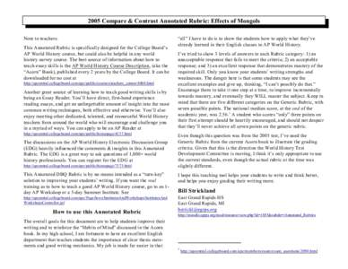 2005 ap world history compare and contrast essay