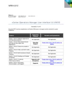 vCenter Operations Manager User Interface 5.6 VPAT: VMware, Inc