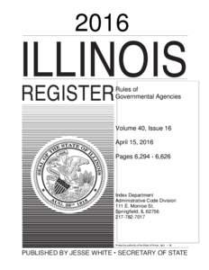 2016  ILLINOIS REGISTER  RULES