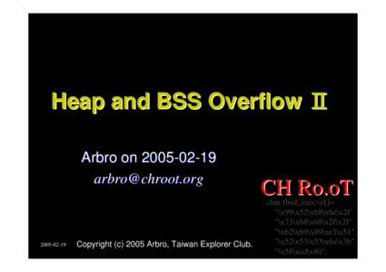 Heap and BSS Overflow Ⅱ Arbro on-02-19