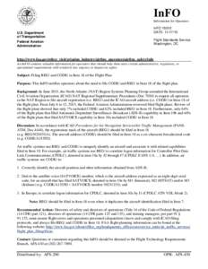 InFO Information for Operators U.S. Department of Transportation Federal Aviation