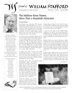 A Newsletter For Poets & Poetry  Volume 11, Issue 1 - Spring 2006 The Methow River Poems: More Than a Roadside Attraction