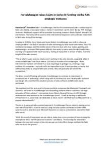 ForceManagerraises$12minSeriesBFundingledbyAXA StrategicVentures