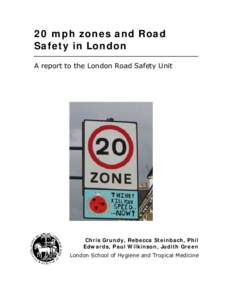 20 mph zones and Road Safety in London