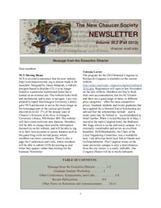 ! ! The New Chaucer Society  NEWSLETTER