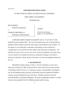 FiledCERTIFIED FOR PUBLICATION IN THE COURT OF APPEAL OF THE STATE OF CALIFORNIA FIRST APPELLATE DISTRICT DIVISION ONE