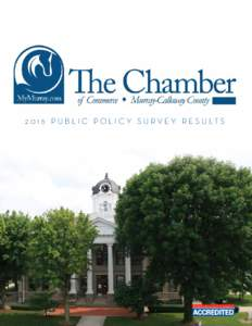 P u b l i c P o l i c y S u r v e y R e s u lt s  2016 Public Policy Survey Results The Murray-Calloway County Chamber of Commerce is the region's secondlargest business advocacy organization and is the 9th la