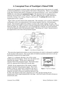 A Conceptual Tour of TeachSpin's Pulsed NMR Pulsed nuclear magnetic resonance begins with the net magnetization of the protons of a sample in thermal-equilibrium in a strong magnetic field which is designated Bo. There