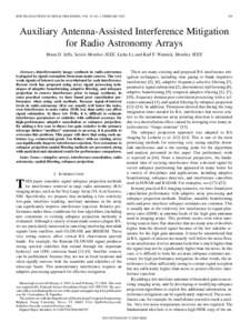 IEEE TRANSACTIONS ON SIGNAL PROCESSING, VOL. 53, NO. 2, FEBRUARYAuxiliary Antenna-Assisted Interference Mitigation for Radio Astronomy Arrays