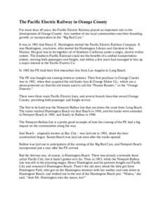 Microsoft Word - The Pacific Electric Railway in Orange County 1.doc