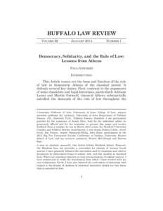 BUFFALO LAW REVIEW VOLUME 62 JANUARYNUMBER 1