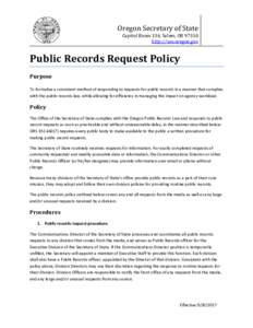 Public Records Request Policy
