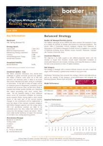 Platform Managed Por tfolio Ser vice Balanced Strategy June 2016 Key Information