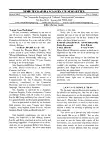 NU - MU - TEKWAPU - HA NOMNEEKATU - NEWSLETTER March 2002