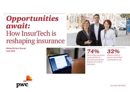 Opportunities await: How InsurTech is reshaping insurance Global FinTech Survey June 2016