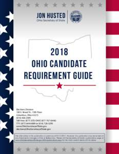 2018 ohio candidate requirement guide Elections Division 180 E. Broad St., 15th Floor