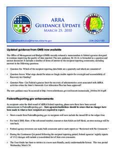 ARRA Guidance Update March 25, 2010