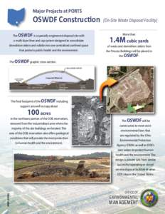 Major Projects at PORTS  OSWDF Construction The OSWDF is a specially engineered disposal site with a multi-layer liner and cap system designed to consolidate demolition debris and rubble into one centralized confined spa