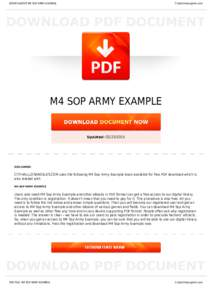 example sop for m4 Army alc m4 sop example pdf army alc m4 sop example download tue, 06 feb 2018 02:27:00 gmt army alc m4 sop pdf - army alc m4 sop example.
