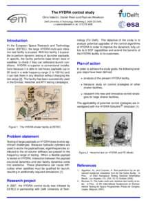 The HYDRA control study Chris Valentin, Daniel Rixen and Paul van Woerkom Delft University of Technology, Mekelweg 2, 2628 CD Delft, , telIntroduction