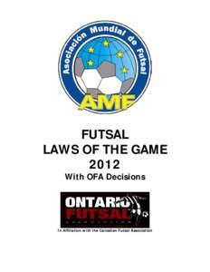 futsal rules and regulations pdf