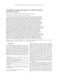 Riparian zone flowpath dynamics during snowmelt in a small ...