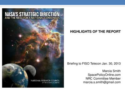 NASA's Strategic Direction and the Need for a National Consensus