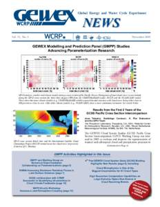 Global Energy and Water Cycle Experiment  NEWS Vol. 18, No. 4