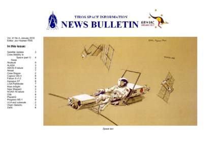 Vol. 41 No.4, January 2016 Editor: Jos Heyman FBIS In this issue: Satellite Update Crew Mobility In