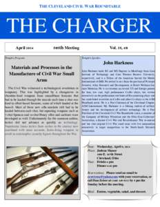 THE CLEVELAND CIVIL WAR ROUNDTABLE  THE CHARGER !  April 2014
