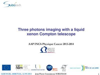 Développement expérimental d'un téléscope Compton au xénon liquide pour l'imagerie fonctionelle