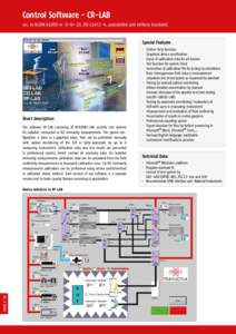 Control Software - CR-LAB acc. to IEC/EN, ISO, automotive and military standards Special Features • ·
