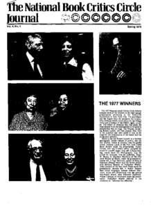 Vol. 4, No.1  Spring 1978 THE 1977 WINNERS
