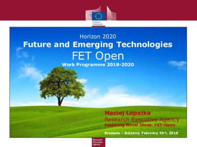 HorizonFuture and Emerging Technologies FET Open
