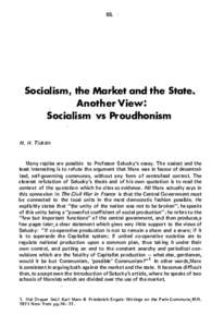 65.  Socialism, the Market and the State.· Another View: Socialism vs Proudhonism