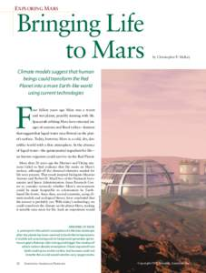 EXPLORING MARS  Bringing Life to Mars  by Christopher P. McKay