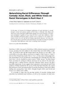 race along with stereotypes throughout comedy essay