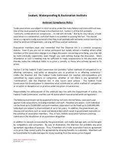 Microsoft Word - DOCSPJ-#v1-SWR_Institute_Redlined_Antitrust_Policy.DOC
